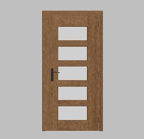 现代卧室门模型