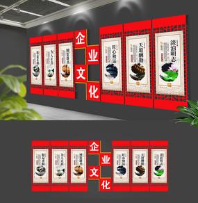 原创新中式古典企业文化墙