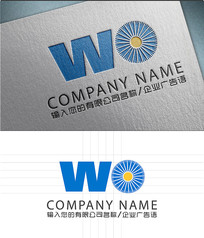 WO字母LOGO标志设计