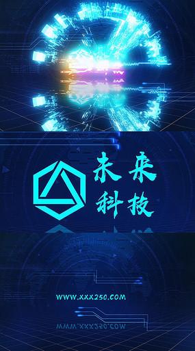 炫酷粒子光效标志AE模板