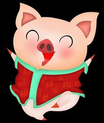 原创手绘小猪元素