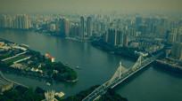 广州现代都市实拍视频