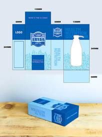 洗发水盒子包装设计 PSD