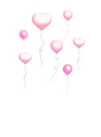 原创元素粉色气球素材