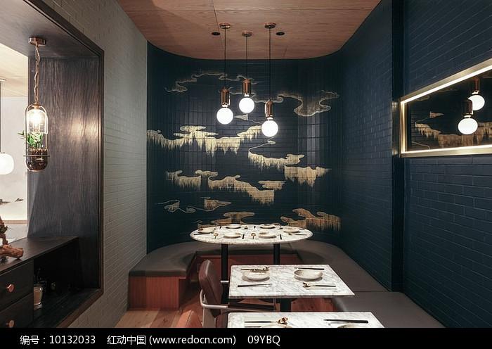 中国风梯形v梯形户型餐厅装修设计图片