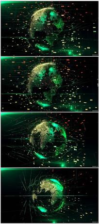 数字科技地球视频素材