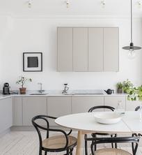纯白色厨房设计