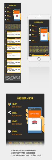 公众号宣传手机长图设计 PSD