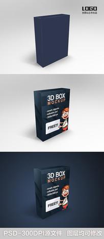 3D盒子样机模板 PSD