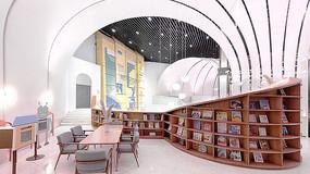 粉嫩风格书店设计
