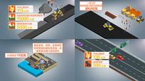 交通建设投资类字幕AE模板