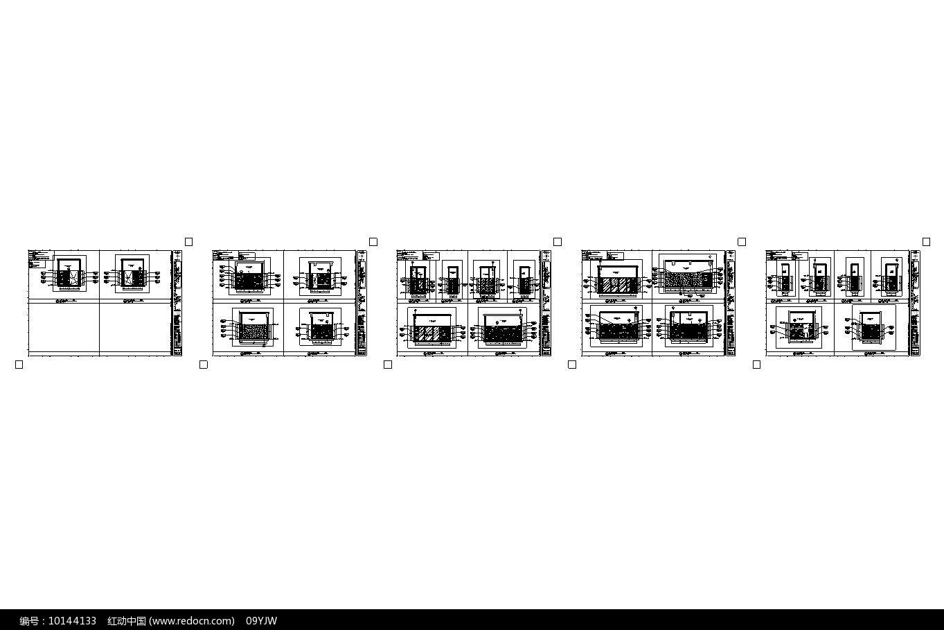 酒店足浴区立面图图片