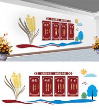 食堂文化墙设计 CDR