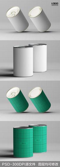 易拉罐包装展示样机模板 PSD