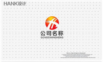 H字母科技建筑工程标志