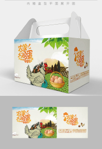 卡通风格鸡蛋包装设计 PSD