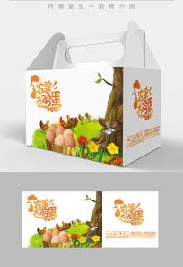 卡通鸡蛋包装设计 PSD