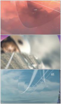 大气视差图片展示ae模板