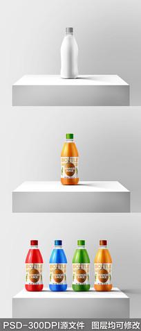 果汁饮料瓶样机效果图