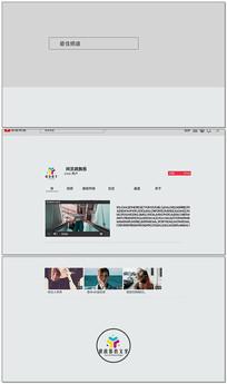 简洁网页网站介绍AE模板