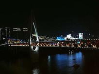 跨海大桥夜景灯带景观