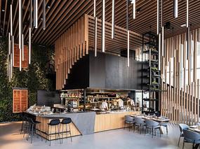 木质现代风格咖啡厅