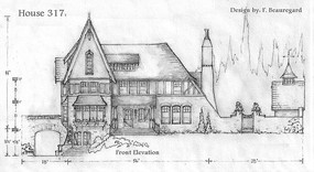 欧式古典建筑平面素描 JPG