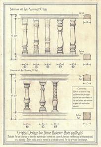 欧式栏杆柱子手绘