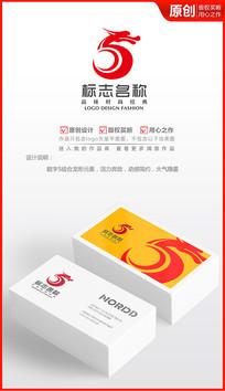 5周年logo设计商标设计