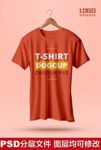 T恤可编辑效果图样机