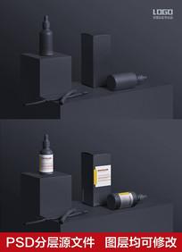 黑色容器包装样机