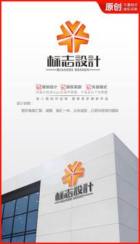 汇聚融合科技公司logo设计