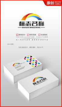 简约彩虹logo设计商标设计