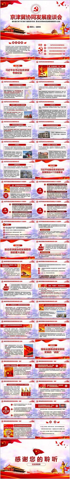 京津冀协同发展座谈会PPT模板