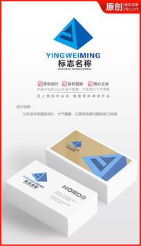 金字塔科技logo设计商标