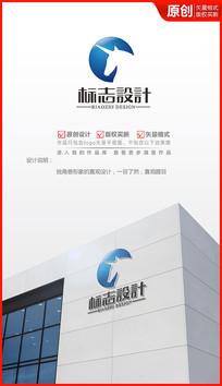科技独角兽logo设计商标