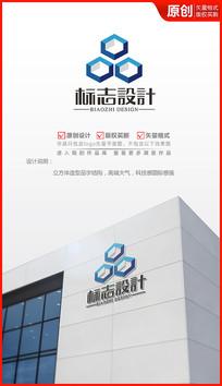 科技品字logo设计商标