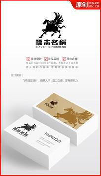 酷黑飞马logo设计商标设计 AI
