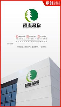 绿色大树logo设计商标