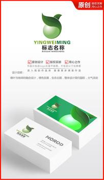 绿色地球logo设计商标设计 AI