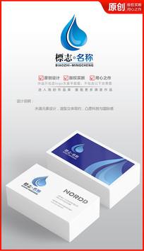 水滴logo设计商标设计标志