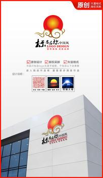 祥云朝阳logo设计商标
