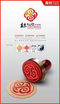 祥云太极logo设计商标 AI