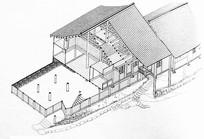 中国古代建筑俯视线稿