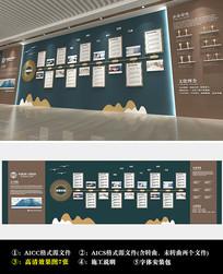 大气中式企业发展历程文化墙