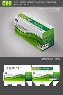 绿色动感线条硒鼓彩盒包装设计