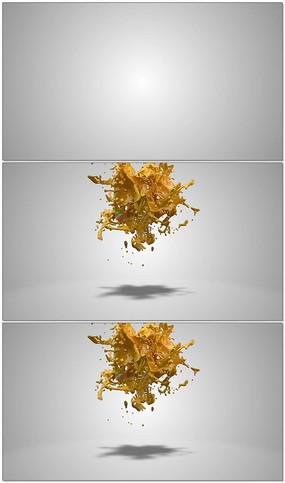 3维液体LOGO视频模板