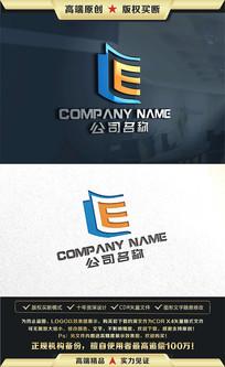 E字母标志LOGO设计