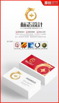 财富金龙logo设计 AI
