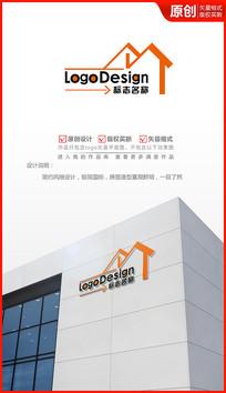 房产平台logo设计 AI